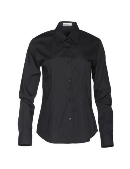 Camisa señora manga larga  negra